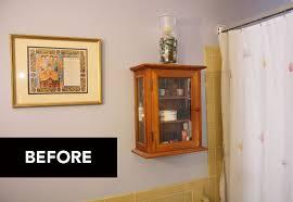 Diy Bathroom Curtains Diy Bathroom Makeover With A Shower Curtain And Mod Podge Eve Of