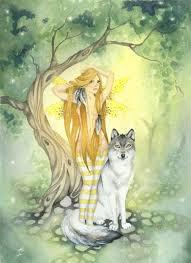 the wolf u0027s fairy fairy art watercolor print 8 5x11 fantasy
