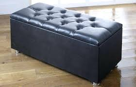 Navy Blue Leather Ottoman Fashionable Navy Blue Storage Ottoman Furniture Navy Blue Pouf