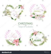 christmas banners tags gift tags decoration stock vector 324798131