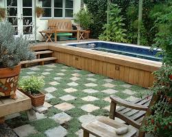 above ground pool deck kits landscape contemporary with backyard