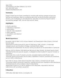 security guard resume professional armed security guard templates to showcase your