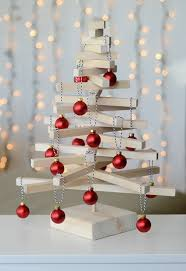 how to make a modern wooden tabletop christmas tree tabletop