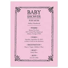 shower invitations sted frame baby shower invitation personalized baby shower invites