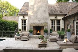 Traditional Outdoor Furniture by Brown Outdoor Fireplaces Patio Traditional With Dark Brown Patio