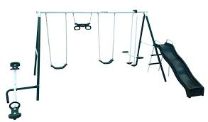 amazon com flexible flyer backyard fun swing set with plays