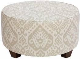 round upholstered ottoman coffee table foter
