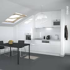 cuisine blanc brillant meuble de cuisine blanc brillant cuisine blanc mat sans poignee 3