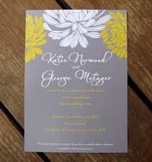 where to get wedding invitations exclusive yellow and gray wedding invitations which popular in