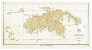 Map Of The Virgin Islands Saint John 1934 Map Virgin Islands Topographical Noaa