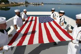 Flag Folding Ceremony File Us Navy 030830 N 3228g 003 A Naval Station Pearl Harbor