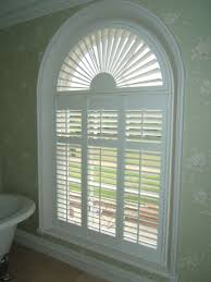 Plastic Plantation Blinds Architecture Modern Bathroom Design With Palladian Windows And