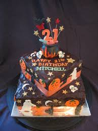 birthday cake halloween mitchell u0027s 21st birthday halloween theme cakecentral com