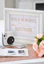 bridal shower sign in book kara s party ideas instax photo guestbook for your wedding or
