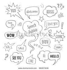collection speech bubbles popular phrases stock vector