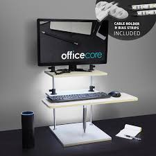Height Adjustable Standing Desk by Height Adjustable Standing Desk For Desktops U0026 Laptops With Usb