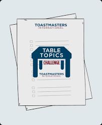 toastmasters table topics tips toastmasters international on demand