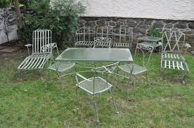 Retro Patio Furniture Sets Vintage Patio Table Wrought Iron Furniture Regarding Lawn