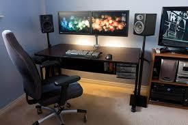 Best Computer Desk Design Furniture Charming Modern Amazing Desks Led Wide Screen Monitor
