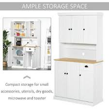 kitchen pantry storage cabinet microwave oven stand with storage generic homcom 71 wood kitchen pantry storage cabinet