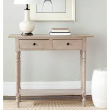 Grey Entryway Table by Linon Home Decor Titian Rustic Gray Storage Console Table