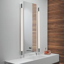 palermo 1200 bathroom wall light in polished chrome with diffuser