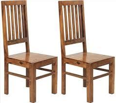 Indian Dining Chairs Buy Indian Hub Cube Sheesham Dining Chair High Slat Back Pair