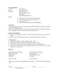 basic resume exles for highschool students student cv carbon materialwitness co