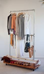 Decorative Metal Garment Floor Rack by Wardrobe Racks Awesome Rolling Clothes Rack Heavy Duty Garment