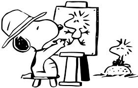 dessin de snoopy az coloriage