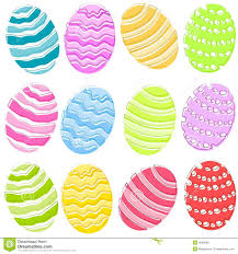 12 colourful easter eggs clip art royalty free stock images