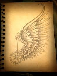 small angel wing tattoos on back steampunk hermes wing tattoo design tattoos pinterest wing