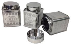 garian vintage style tea coffee and sugar airtight canisters 3