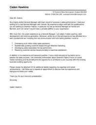 general manager cover letter examples for sales livecareer