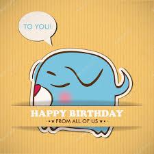 happy birthday greeting card with dog u2014 stock vector r lion o