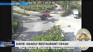 video captures moment car crashes into pollo tropical in davie