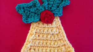 how to crochet a bell applique for christmas diy crafts tutorial