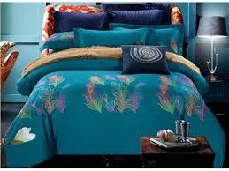 Peacock Feather Comforter Set Peacock Feather Comforter Beddinginn Com