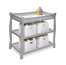 amazon com badger basket sleigh style baby changing table grey