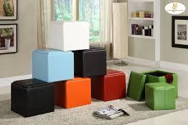 Vinyl Orange Ottoman Storage Cube Ottoman Orange Bi Cast Vinyl 4723rn Ottomans