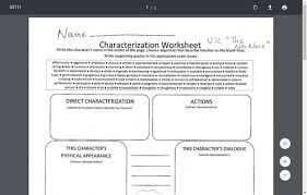 indirect characterization lesson plans u0026 worksheets