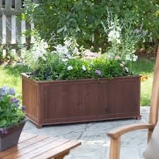 where to buy large planters coral coast aster wood patio raised planter box hayneedle