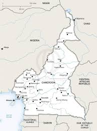 map of cameroon vector map of cameroon political one stop map