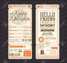 vintage halloween flyer background 469 boarding pass invitation stock vector illustration and royalty