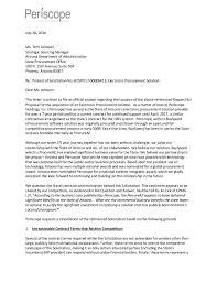 periscope protest letter regarding arizona rfp