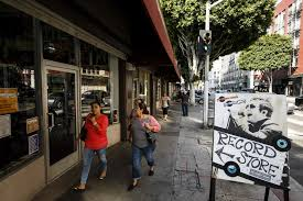 Second Hand Stores Downtown Los Angeles Pop Obscure Offers A New Old Fashioned Record Store Feeling In
