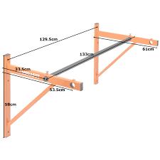 wall mounted chinning bar mirafit wall mounted commercial grade pull up bar chin chinning