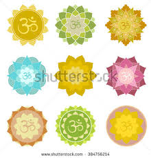 Lotus Flower With Om Symbol - set om symbols isolated perfect yoga stock vector 384756214