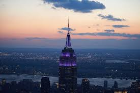 empire state building lights tonight empire state building lights up purple for world prematurity day