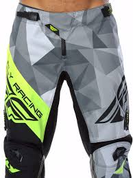 fly racing motocross fly racing black grey hi viz 2017 kinetic crux mx pant fly
